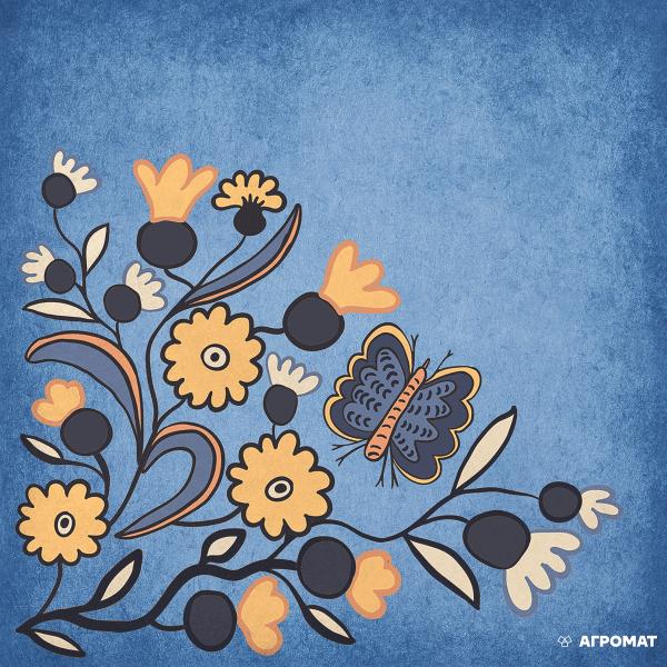 Плитка Almera Ceramica Prima Maria DEC DARK BLUE 2