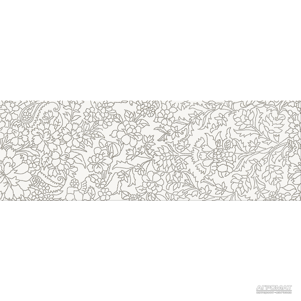 Плитка Opoczno Pret-a-Porter WHITE INSERTO FLOWER декор