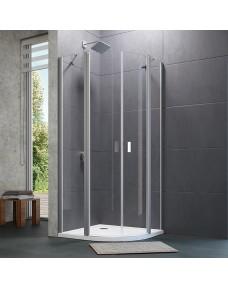 8P1703.092.321 Desing Pure Душевая дверь 1/4 круга с неподвижным сегментом 1000х1900 мм, профиль глянцевый хром, стекло прозрачное (1 половина)