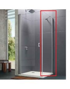 8P1003.092.321 Design pure реверсивная боковая стенка 800x1900, профиль хром, стекло прозрачное