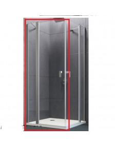 8P0725.092.321 Design pure Душевая дверь с неподвижным сегментом 1200х1900 мм, реверсивная, профиль хром, стекло прозрачное