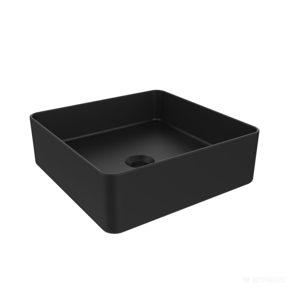 Раковина Devit Quadra 1511132B тонкостенная, черная матовая