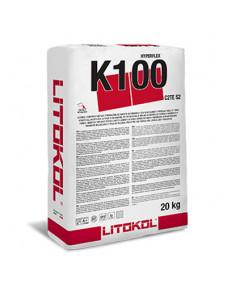 Клей цементний Litokol Hyperflex K100 еластичний для укладання керамограніта великих форматів, 20 кг (K100B0020), Білий