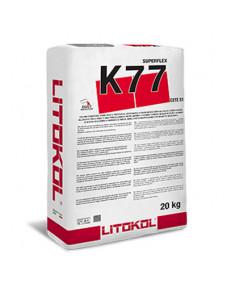 Клей цементний Litokol Superflex K77 високоеластичний, 20 кг (K77B0020), Білий