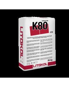 Клей цементний Litokol LiToflex pro K80 20 кг (K80PRPOB0020), Білий