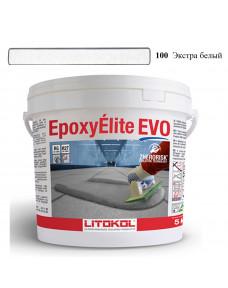 Затирка Litokol Epoxyelite EVO епоксидна для всіх видів плитки і затирки швів, 5 кг (EEEVOBSS0005), C.100 Екстра Білий