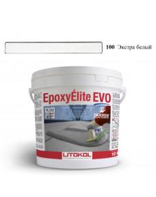 Затирка Litokol Epoxyelite EVO епоксидна для всіх видів плитки і затирки швів, 10 кг (EEEVOBSS0010), C.100 Екстра Білий