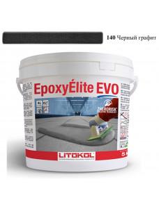 Затирка Litokol Epoxyelite EVO епоксидна для всіх видів плитки і затирки швів, 5 кг (EEEVONGR0005), C.140 Чорний Графіт
