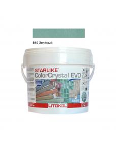 Затирочная смесь Litokol Starlike ColorCrystal EVO CCEVOVCP02.5 810 Зеленый 2,5 кг