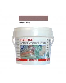 Затирочная смесь Litokol Starlike ColorCrystal EVO CCEVORKY02.5 830 Розовый 2,5 кг