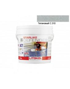 Затирка Litokol Starlike Defender антибактеріальна епоксидна, 2.5 кг (DFNTTN02.5), C.310 Титановий