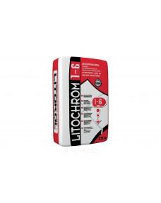 Затирка Litokol Litochrom 1-6 цементна, 25 кг (16GRG0025), C.00 Білий