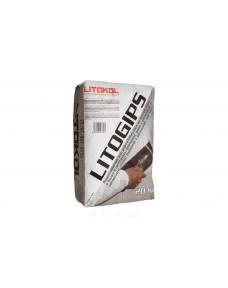 Шпаклівка Litokol Litogips гіпсова, мішок 20 кг (LGPS0020 ), Білий