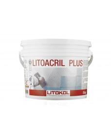 Дисперсійний клей Litokol Litoacril Plus акриловий для плитки, 5 кг (LACR0005), Білий