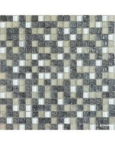 Мозаика Grand Kerama 2100 микс платина колотая-белый-охра