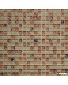 Мозаика Grand Kerama 582 микс бежевый-бронза рельеф-камень