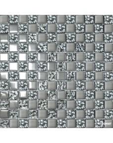 Мозаика Grand Kerama 2095 Микс шахматка платина - платина рельеф