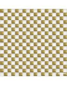 Мозаика Grand Kerama 413 шахматка белый-золото