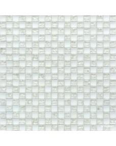 Мозаика Grand Kerama 538 шахматка белый матовый-белый колотый