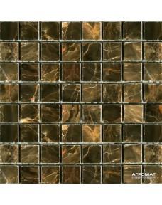 Мозаика Mozaico de Lux Stone C-MOS SABLE BROWN POL