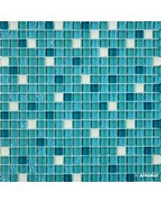 Мозаика Grand Kerama 2082-Микс (Тиффани бирюза белый матовый)
