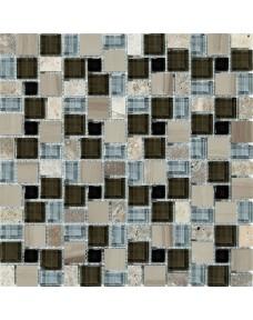 Мозаика MOZAICO DE LUX T-MOS GS11 ST+GL BROWN