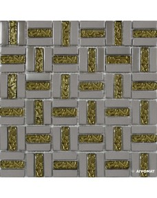 Мозаика Grand Kerama 1087 Трино платина-золото рифленая
