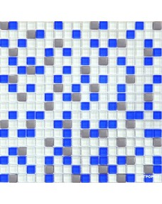Мозаика Grand Kerama 466 микс белый-голубой-платина