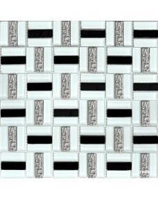 Мозаика Grand Kerama 1077 Трино чоерно-белая