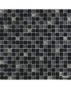 Мозаика Grand Kerama 2121 микс серо-черный