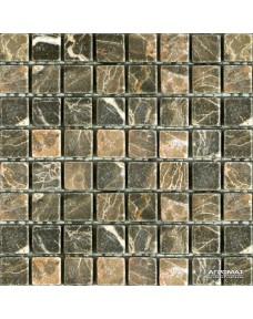 Мозаика Mozaico de Lux Stone C-MOS SABLE BROWN